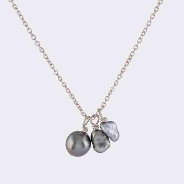 Kette Silber Perlen