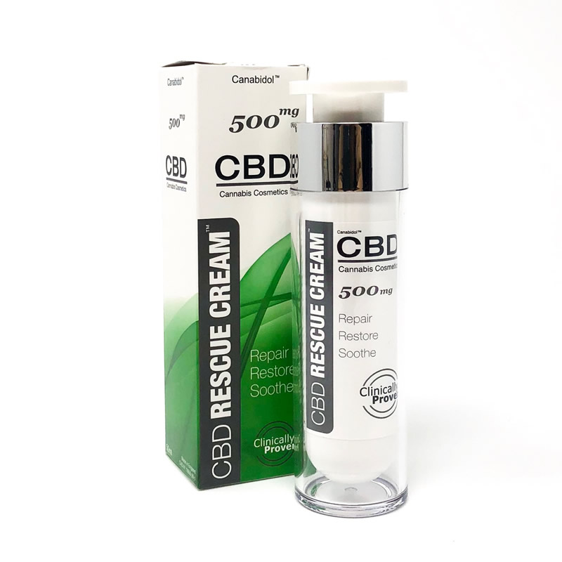 cbd cream on white background