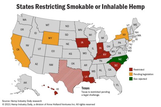 smokable hemp map
