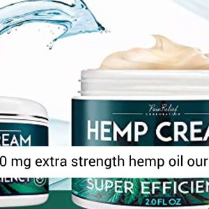 Hemp Pain Relief Cream 6000 Mg - Natural Hemp Extract Cream for Arthritis - Back Pain & Muscle Pain