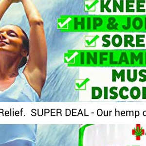 Hemp Pain Relief Cream - 18 000MG - 4 OZ - Made in USA - Lower Back - Neck - Joint - Knee - REVIEW