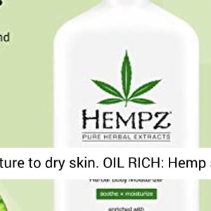 Hempz Fresh Coconut & Watermelon Moisturizing Skin Lotion, Natural Hemp Seed Herbal Body Moisturizer