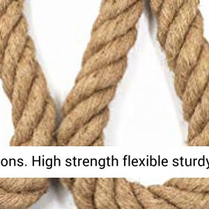 Aoneky Jute Rope - 1.18/1.5 Inch Twisted Hemp Rope (2 inch x 50 Feet) - REVIEW