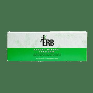 Bhang hemp preroll ERB Durban Menthol carton top