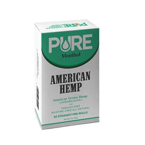 Pure Menthol Hemp Cigarettes Pack