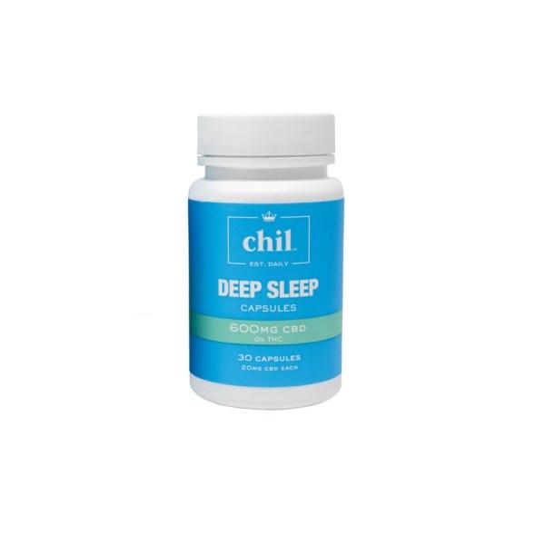 Chil Wellness Deep Sleep CBD Capsules 600mg