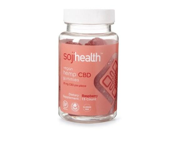 Soji Health Vegan Gummy Rasberry 25mg