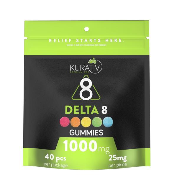 Kurativ Multi Flavor Delta 8 Gummies 1000mg