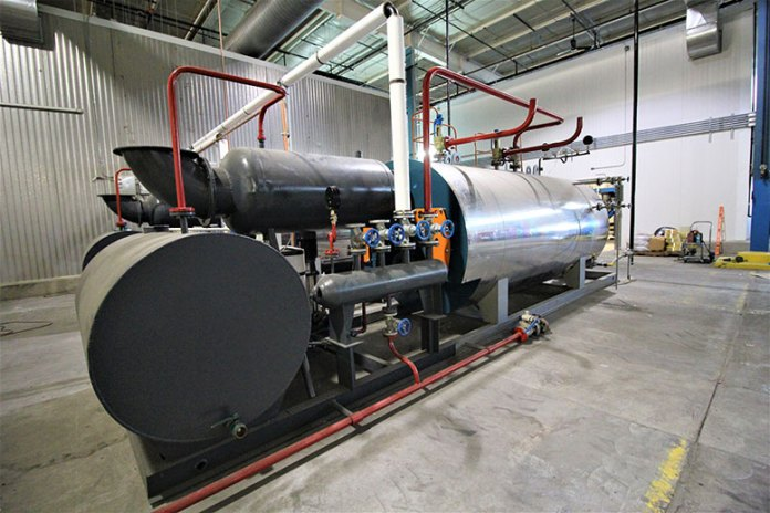 A steam generator in Paragon's Colorado City factory