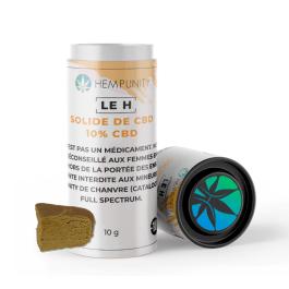 """Solide de CBD """"LE H"""" de Hempunity 10% de CBD – Qualité Premium"""