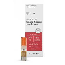 "Cartouche inhalateur Kanabo ""Repair"" 78% de CBD + Cannabinoïdes – 0,5ml"