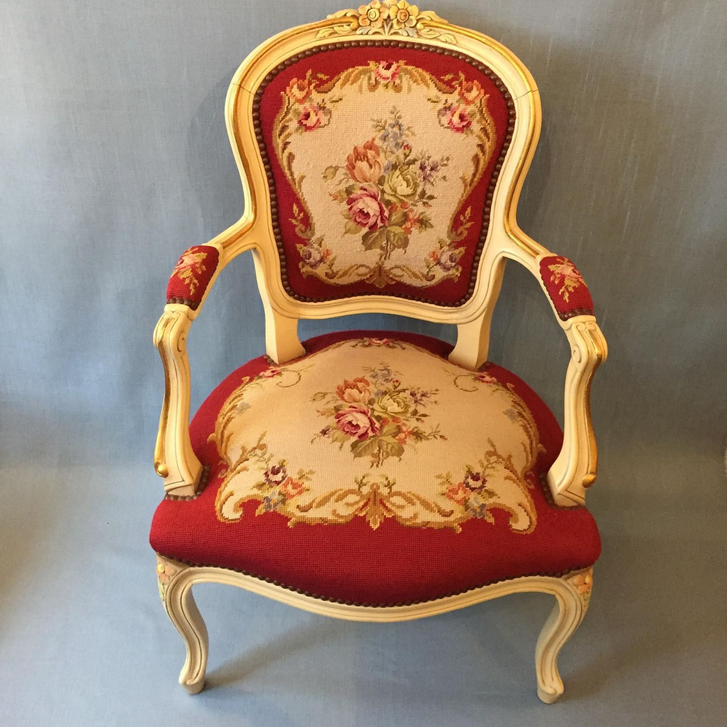 Antique Parlor Chairs French Cream Framed Parlour Chair