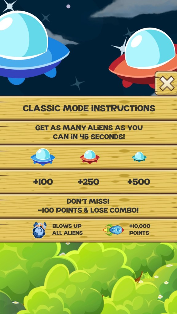 Stupid Aliens - Classic Mode Instructions