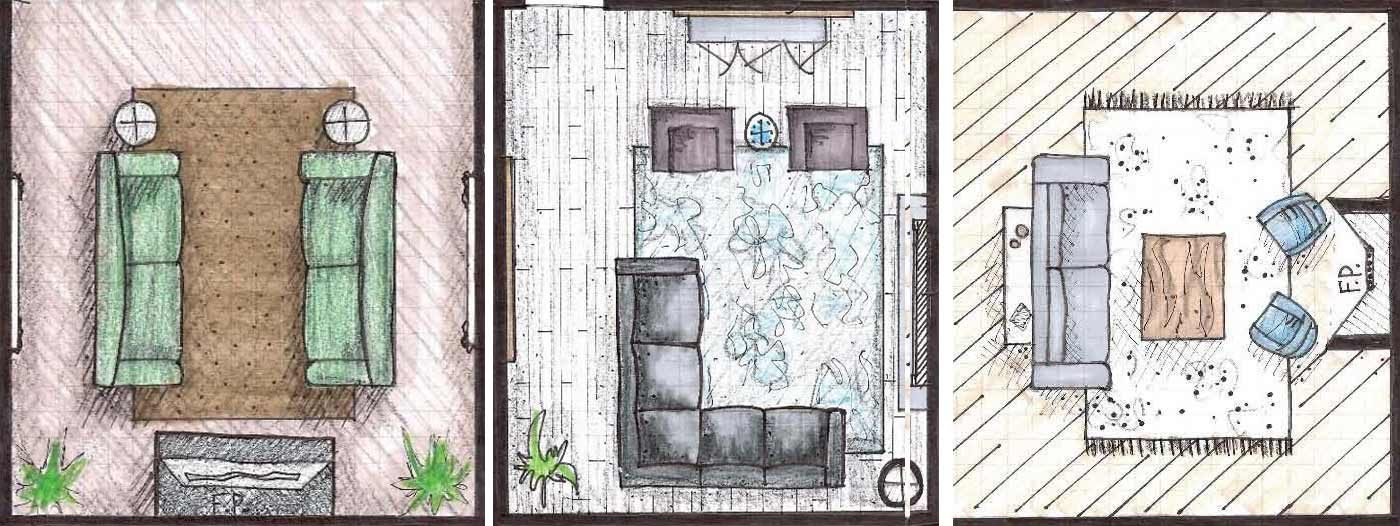 living room layout zebra rug 3 layouts residential interior design philadelphia our favorite