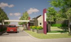 Desain main gate perumahan