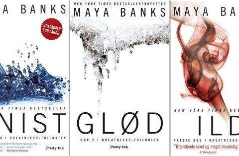 Hende Jensen blog - boganmeldelse af Breathless triologien af Maya Banks