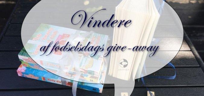 Bogfinkens bogblog - vindere af fødselsdags give-away