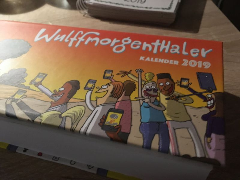 Wulffmorgenthaler kalender 2019 af Mikael Wulff, Anders Morgenthaler - Bogfinkens bogblog