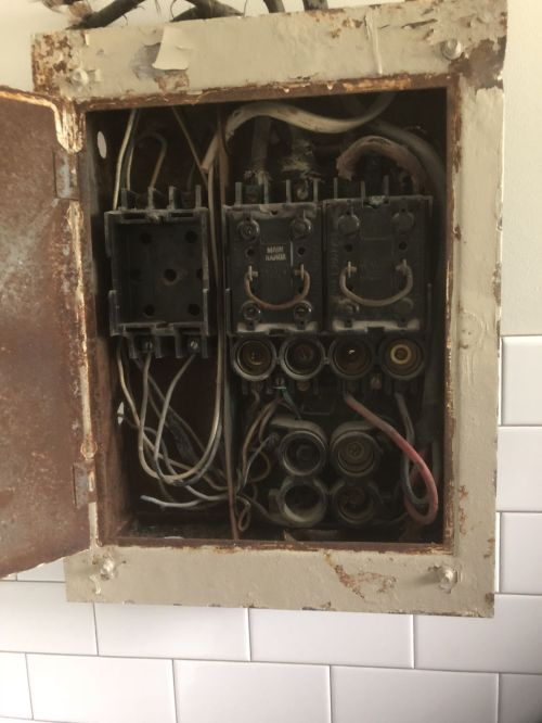 small resolution of main electrical box wiring