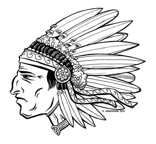 Inktober 8 – Surfin' Chief
