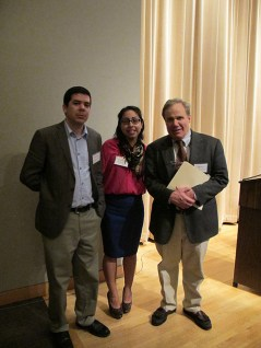 Seen & Heard: Eben Dennis (MdHS), Jenny Ferretti (MdHS), and Bill Zorzi after the panel discussion.