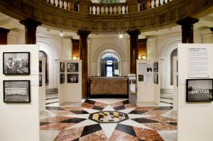 Installation view: Henderson Photo Exhibit at Baltimore City Hall.