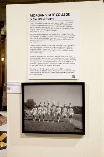 Installation view: Morgan State University panel, Henderson Photo Exhibit at Baltimore City Hall.