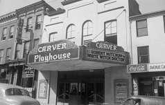 Exterior view of Carver Playhouse, 1429 Pennsylvania Avenue, Baltimore, circa 1953. Paul Henderson, HEN.00.B1-031.