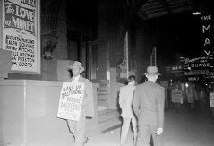 Protesting Ford's Theatre Jim Crow admission policy. Paul Henderson, ca. 1951. MdHS, HEN.00.A2-157.