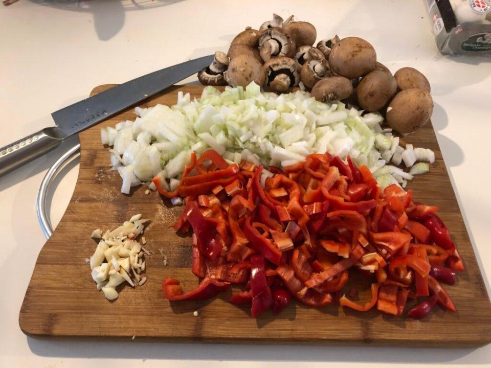 grøntsager til paprikagryde