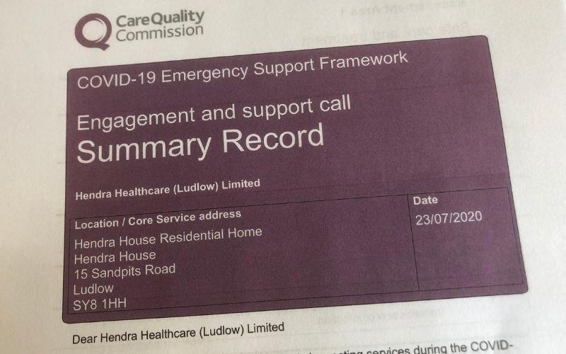 CQC – Emergency Support Framework