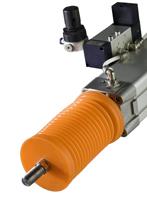 Faltenbalg in modulare Bauweise zum Scutz von Führungen oder Laufbahnen z.B. Zylinderstangen. Fa. Hendricks