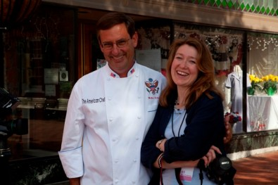 Promoting an event with former White House Chef Walter Scheib