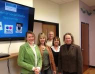 Leading social media workshops with Adams County Arts Council staff