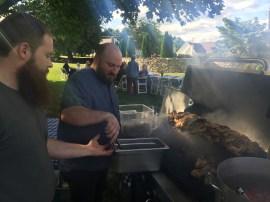 Chef Josh Fidler of Fidler & Co mans the grill