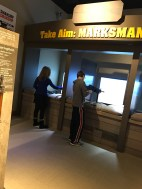 Take aim, in this interactive display