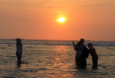 sunset at Tanjung Layar Sawarna_7