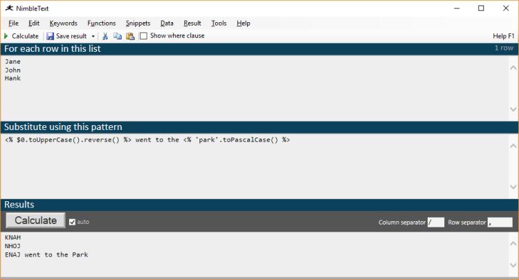 Nimbletext default