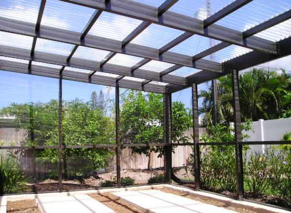 The Roof Is Constructed Of Corrugated Panels To Provide A Greenhouse  Environment Designed To Protect The Orchids And Other Delicate Plants From  Harmful ...