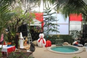 Christmas scene at Thai House Beach Resort