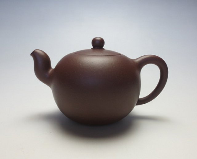 【宜興紫砂壺】一粒珠壺【張 泉林】