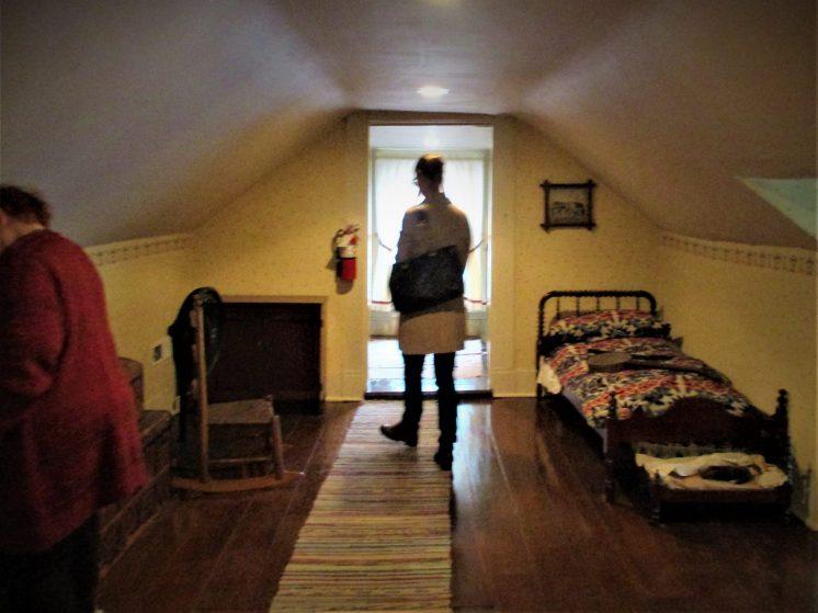 Where James sleep