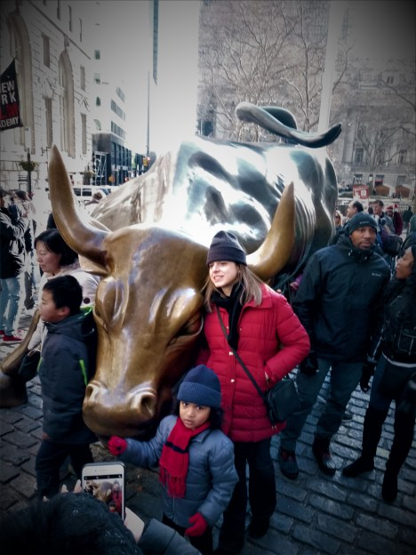 kids with bull