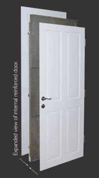 Wooden security doors, solid steel reinforced