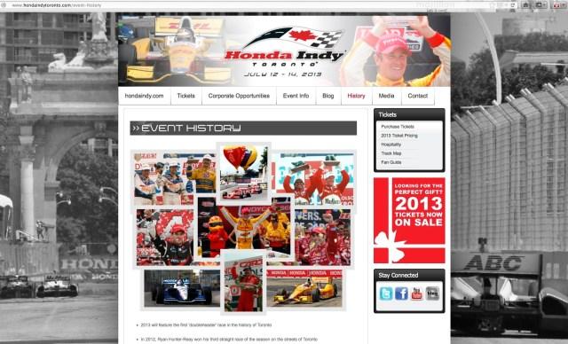 Honda Indy Toronto event history