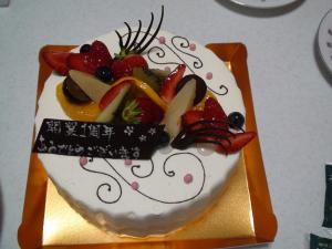 1周年ケーキ