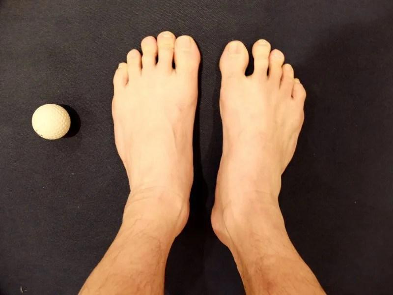 マッサージ後の足の写真