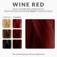 Wine Red Henna Hair Dye  Henna Color Lab  Henna Hair Dye