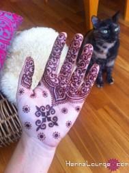 Henna inspired by Kyrgystani feltwork
