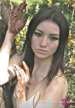 Model with henna for fashion shoot